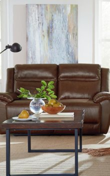 STANDARD 4029292 Wyatt 100% Leather Reclining Loveseat