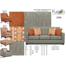 3700 - Sofa - Sugarshack Onyx