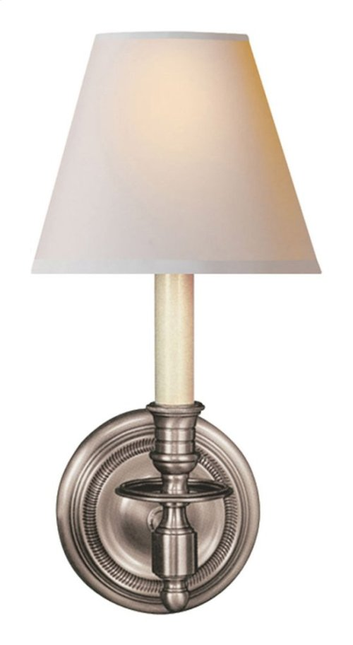Visual Comfort S2110AN-NP Studio French Library 1 Light 6 inch Antique Nickel Decorative Wall Light in Natural Paper