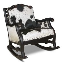 Hoss Cowhide Rocking Chair