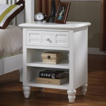 Nightstand with glass top