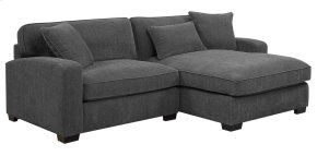 Lsf Chair-rsf Chaise W/3 Pillows Charcoal