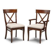 Florence X Back Side Chair With Fabric Seat