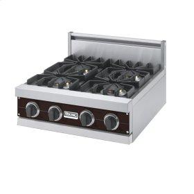"""Chocolate 24"""" Sealed Burner Rangetop - VGRT (24"""" Wide, four burner)"""