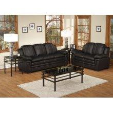 2pc. Black Luxury Sofa Set Collection