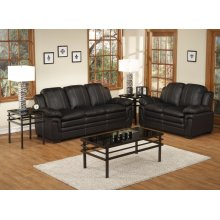 2pc. Black Luxury Sofa Set Collection
