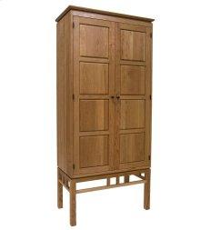 Eastwood Bookcase with Wood Paneled Doors