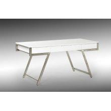 Modrest Dessart Modern White Gloss Desk