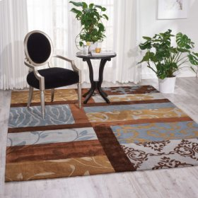 Contour Con11 Multicolor Rectangle Rug 7'3'' X 9'3''
