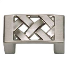 Lattice Knob 1 5/8 Inch - Brushed Nickel