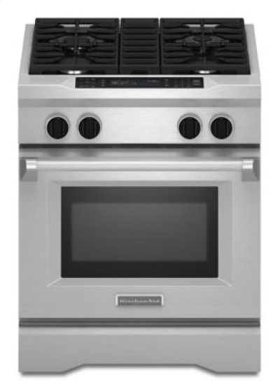 30'' 4-Burner Dual Fuel Freestanding Range, Commercial-Style - Stainless Steel Product Image