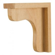 "2-1/2"" x 8"" x 8"" Wood Bar Bracket Corbel, Species: White Birch"