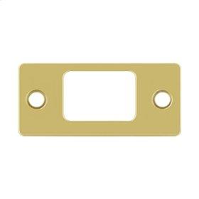 "Strike Plate, Deadbolt, 2-3/4"" x 1-1/4"" - Polished Brass"