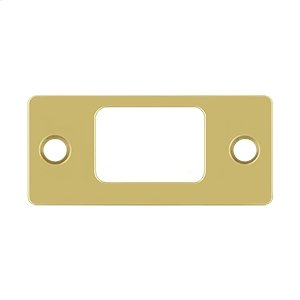 "Strike Plate, Deadbolt, 2-3/4"" x 1-1/4"" - Polished Brass"