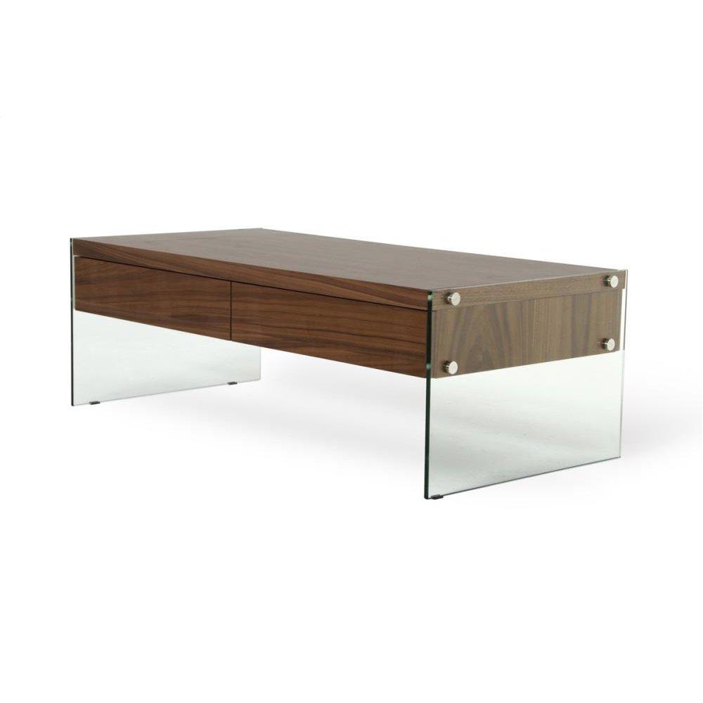 Modrest Aura Modern Walnut Floating Coffee Table