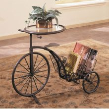 """Antique Rust"" Tricycle Table"