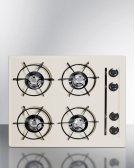 "24"" Wide Cooktop In Bisque, With Four Burners and Gas Spark Ignition; Replaces Stl033 Product Image"