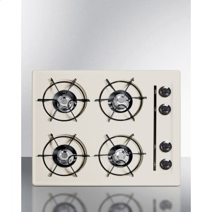 """Summit24"""" Wide Cooktop In Bisque, With Four Burners And Gas Spark Ignition; Replaces Stl033"""
