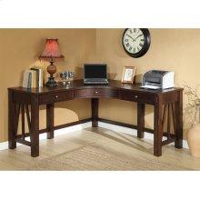 Castlewood - Curved Corner Desk - Warm Tobacco Finish