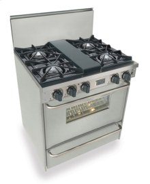"30"" All Gas Range, Open Burners, Stainless Steel"