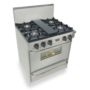 "Five Star30"" All Gas Range, Open Burners, Stainless Steel"