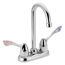 M-BITION chrome two-handle pantry faucet