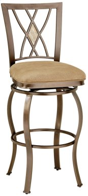 Brookside Diamond Back Swivel Counter Stool