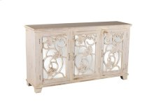 Malbec Console Table - Rubbed White