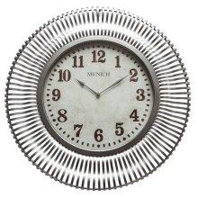 Munich in Silver Patina Wall Clock