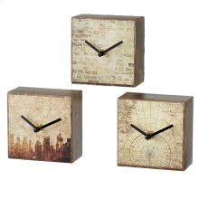Urban Block Desk Clock (3 asstd).