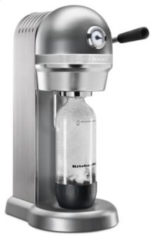 Sparkling Beverage Maker powered by SodaStream® with Mini CO2 Carbonator - Contour Silver