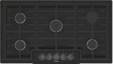 "800 Series 36"" 5 Burner Gas Cooktop, NGM8646UC, Black with Black Stainless Knobs"