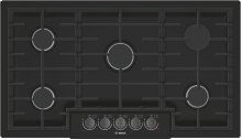 "800 Series 36"" 5 Burner Gas Cooktop, NGM8646UC, Black with Black Stainless Knobs"