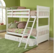 Lauren Twin Bunk Bed With Trundle/storage Drawer
