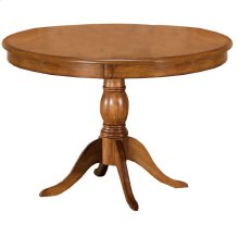 Bayberry Round Pedestal Dining Table - Ctn A - Top Only - Oak