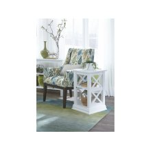 Accent End Table in Pure White