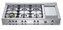 Stainless 48 Rangetop 6-Burner and Griddle