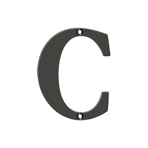 """4"""" Residential Letter C - Oil-rubbed Bronze Product Image"""
