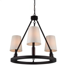3 - Light Lismore Chandelier