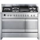 "Free-standing Dual Fuel Dual Cavity ""Opera"" Range Approx. 48"" Stainless Steel Gas Rangetop With Electric Grill Product Image"