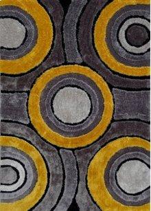 110 Gray Yellow Rug