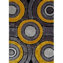 110 Gray Yellow Rug