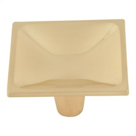 Dap Square Knob 2 Inch - Satin Brass