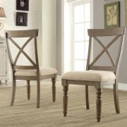 Aberdeen - X-back Side Chair - Weathered Driftwood Finish Product Image