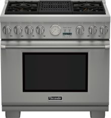 36 inch Professional Series Pro Grand Commercial Depth All Gas Range PRG364NLG