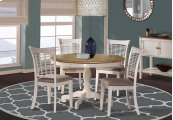 Bayberry 5-piece Round Dining Set - White