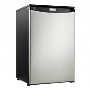 Danby Designer 4.4 Compact Refrigerator - BLACK WITH STAINLESS STEEL LOOK
