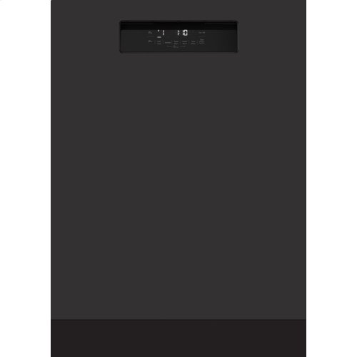 "24"" Tall Tub Integrated Handle Dishwasher 5 cycle front control black 48 dBA"