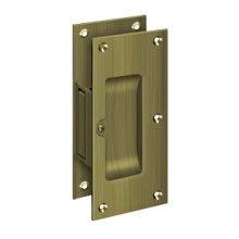 "Decorative pocket Lock 6"", Passage - Antique Brass"