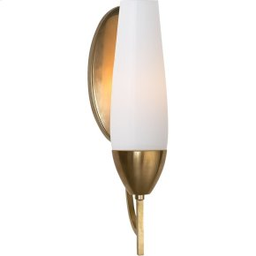 Visual Comfort BBL2020SB-WG Barbara Barry Bowmont 1 Light 4 inch Soft Brass Bath Wall Light